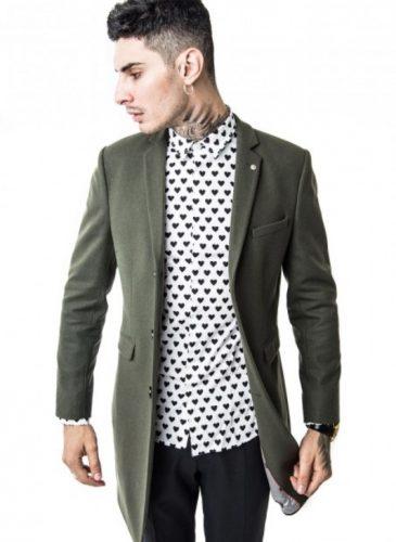 płaszcz męski khaki