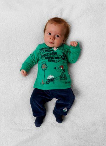 ubranko niemowlęce zieleń